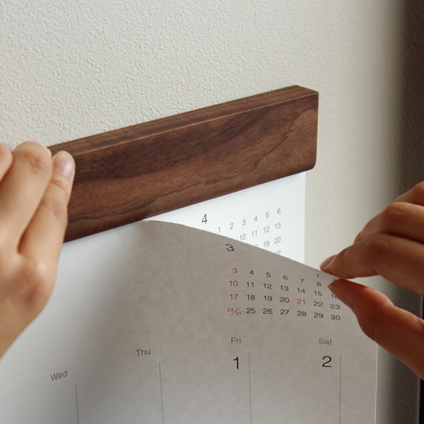 「2021年版 Wall Calendar」インテリアに馴染むおしゃれな木製壁掛けカレンダー/北欧風デザイン