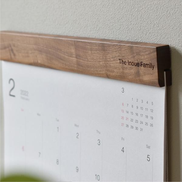 「2022年版 Wall Calendar」インテリアに馴染むおしゃれな木製壁掛けカレンダー(※2022年1月〜12月分)/北欧風デザイン