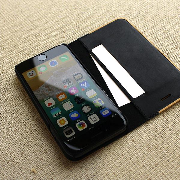 ■【SE2/8/7/6】「iPhone SE(第2世代)/8/7/6 FLIPCASE」木目の美しさをシンプルに表現した手帳型スマートフォンケース