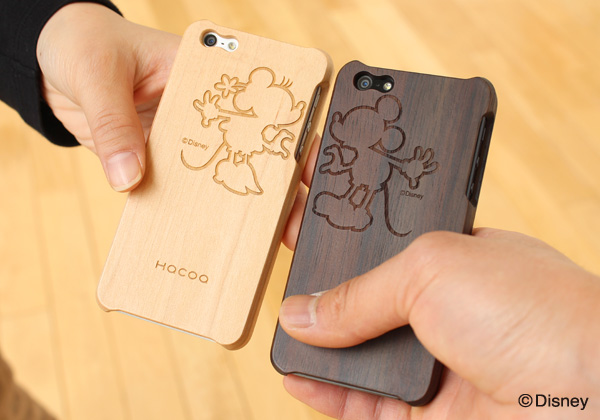 【販売終了】ディズニーキャラクターのiPhone5s用木製アイフォンケース