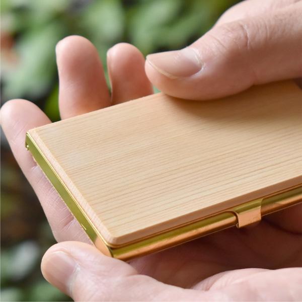 ■【20周年記念】「Brass Card Case」使う程に愛着が生まれる国産木材と真鍮の名刺入れ・カードケース
