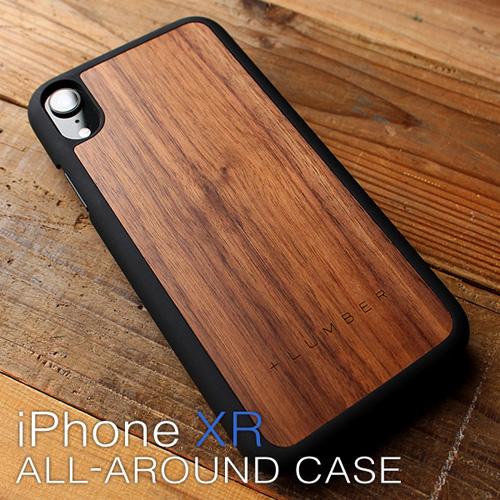 【SALE】【XR】「iPhone XR ALL-AROUND CASE」丈夫なハードケースと天然木を融合したiPhone XR専用木製ケース【Qi対応】