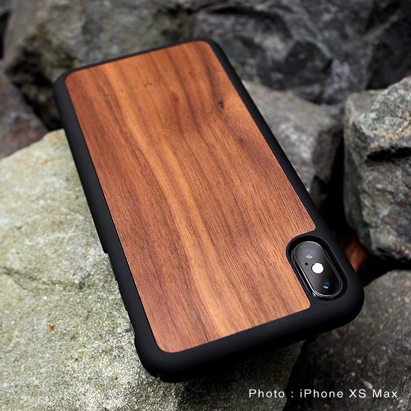 ■【XR】「iPhone XR ALL-AROUND CASE」丈夫なハードケースと天然木を融合したiPhone XR専用木製ケース【Qi対応】