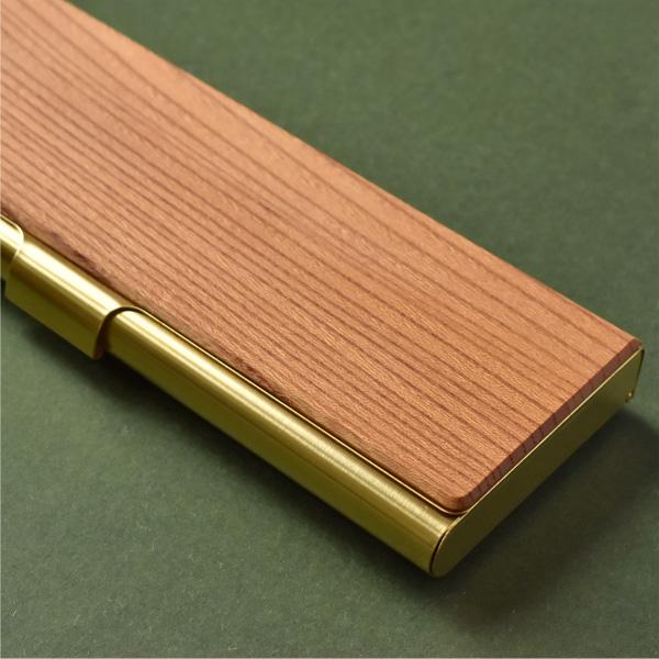 ■【20周年記念】「Brass Pen Case」使う程に愛着が生まれる国産木材と真鍮の筆箱・ペンケース