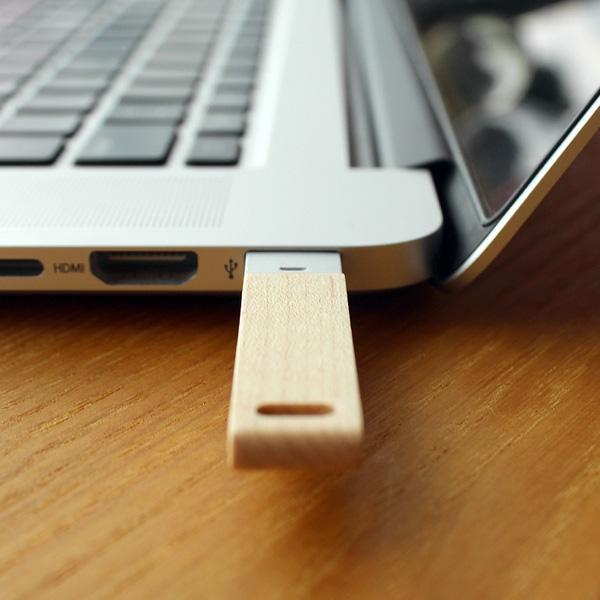 ■【16GB】「USB MEMORY」銘木の美しさをプラスした木製USBメモリー/北欧風デザイン/+LUMBERブランド