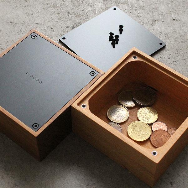 「Coin Box」オブジェのように美しい木製の貯金箱/北欧風デザイン/Hacoaブランド