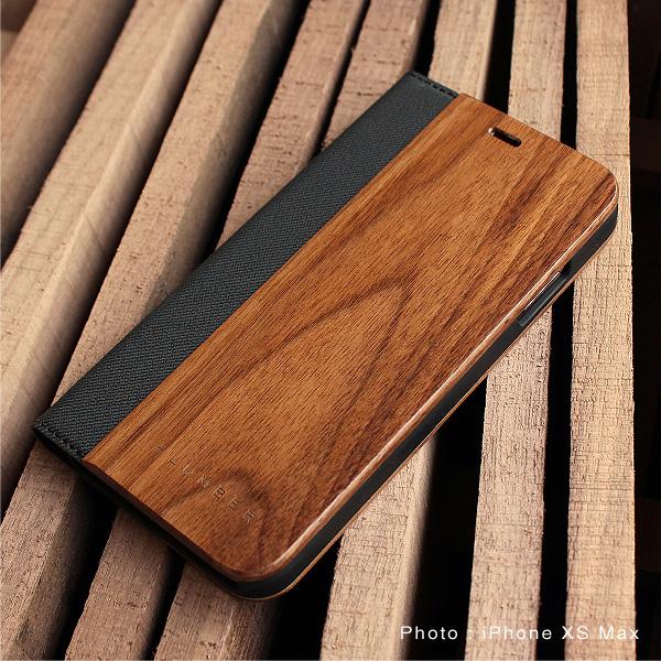 【SALE】【XS Max】「iPhone XS Max FLIPCASE」木目の美しさをシンプルに表現した手帳型スマートフォンケース