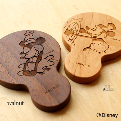 【Disney】「Hand Mirror Disney Characters」ディズニーキャラクターのかわいい木製手鏡・コンパクトミラー