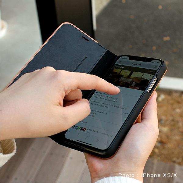 【SALE】【XR】【プレミアム】「iPhone XR FLIPCASE(黒檀)」木目の美しさをシンプルに表現した手帳型スマートフォンケース