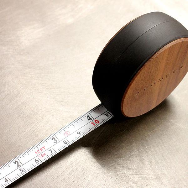 ■【プレミアム】「MEASURE 3.5M(黒檀)」木製メジャー・巻尺