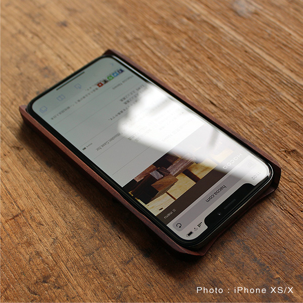 【XR】【Hacoa】「Wooden case for iPhone XR」iPhoneXR用木製ケース