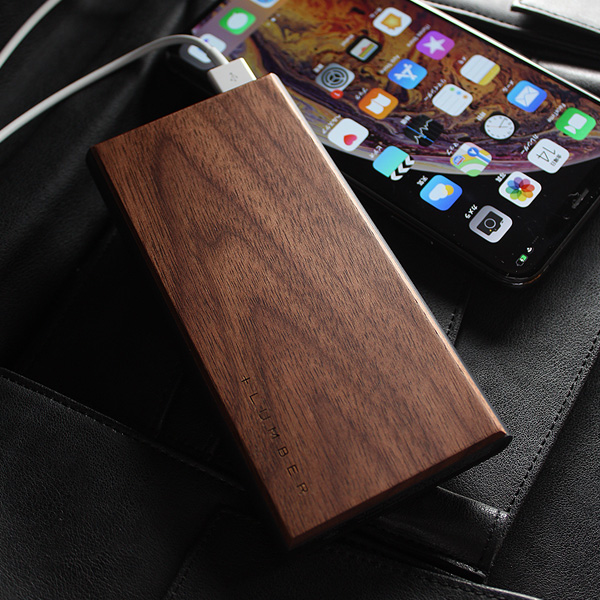 ■【10000mAh】「POWERBANK 10000」木製モバイルバッテリー。iPhoneにも対応【PSE認証】