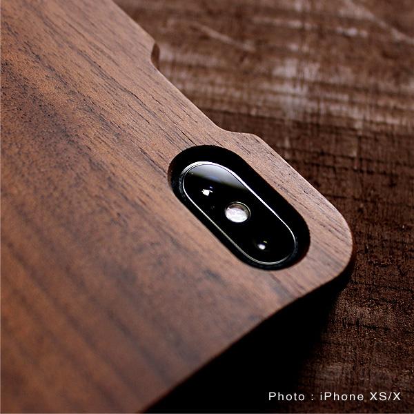 【XS Max】【Hacoa】「Wooden case for iPhoneXS Max」iPhoneXS Max用木製ケース【Qi対応】