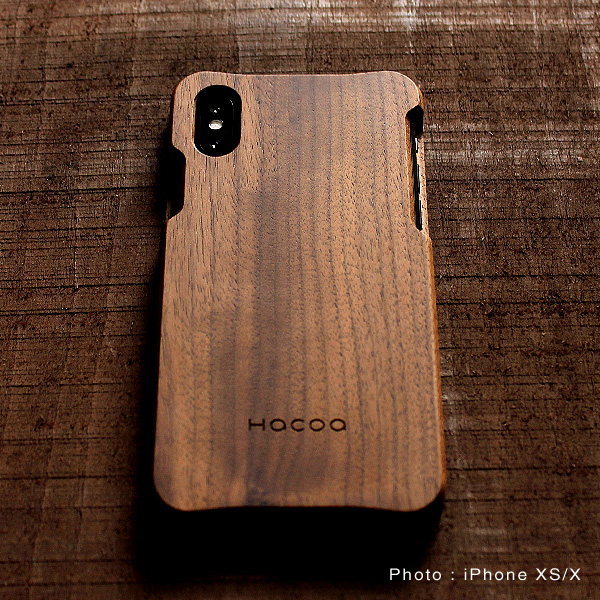 【XS Max】【Hacoa】「Wooden case for iPhoneXS Max」iPhoneXS Max用木製ケース【Qi対応】