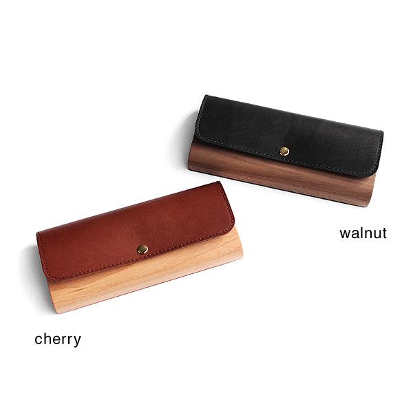 「Flap Pen Case」木と牛革を組み合わせたおしゃれな筆箱・ペンケース