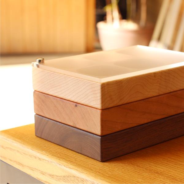 【コンパートメント】「Jewelry Case コンパートメントタイプ」木の美しいジュエリーボックス・アクセサリーケース/北欧風デザイン