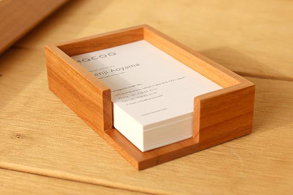 【ロゴ刻印代込】「Card Tray」ショップや会社のロゴを刻印できる木製カードトレイ /開店祝い・ノベルティ・記念品
