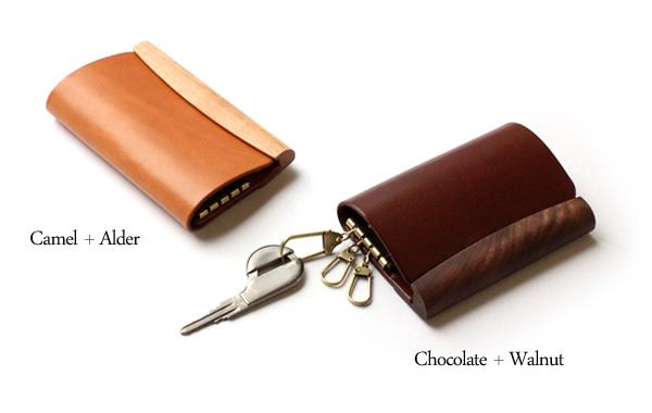【Hacoa×HERZ】「SNAP KEYCASE」ポチッと心地よく開閉する木と革のキーケース/北欧風デザイン