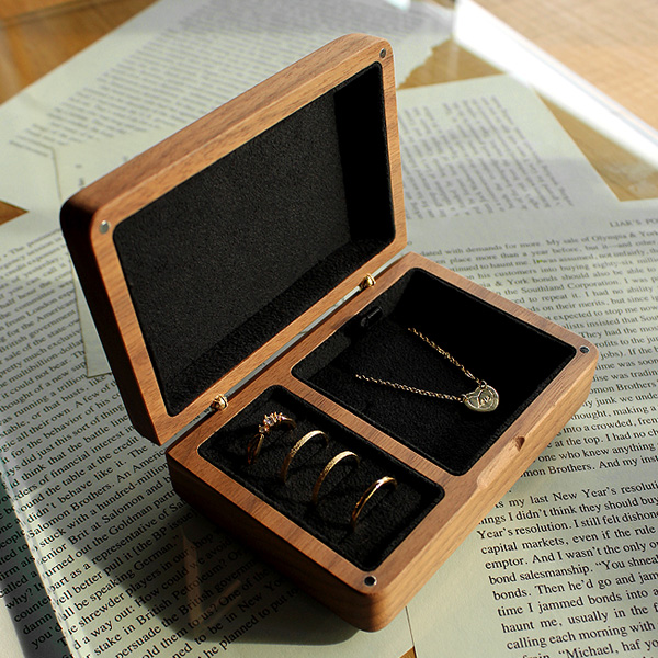「Jewelry Box」アクセサリーを美しく収納できる格調高い木製ケース・ジュエリーボックス/北欧風デザイン