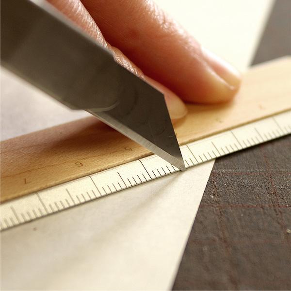 ■「RULER」無機質なアルミに銘木をプラスした定規・ものさし/北欧風デザイン