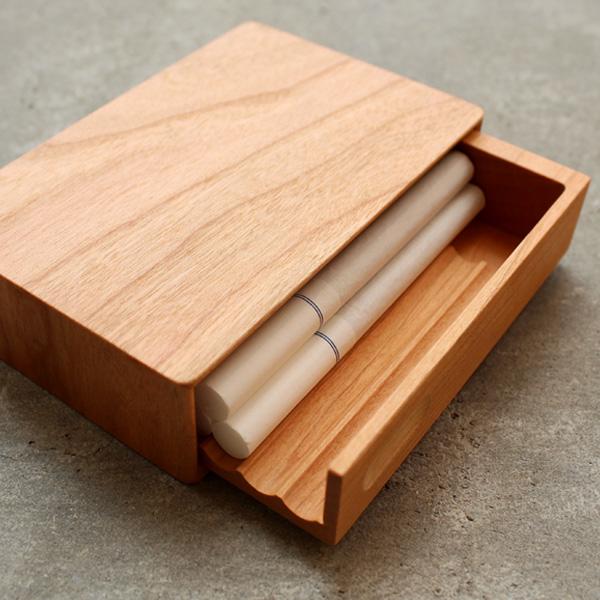 【生産終了】【スリム】「CigaretteCase Slim」高級天然木でできたタバコケース