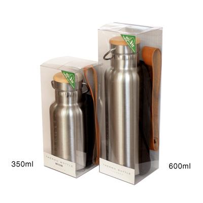 「THERMO BOTTLE 350ml」ステンレス素材に銘木をプラスした木製水筒・サーモボトル・タンブラー