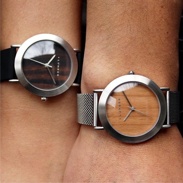 ■【ペア】「WATCH 3300(シリコンベルト) ギフトセット」本木目を使用したおしゃれな木製腕時計・ペアウォッチ