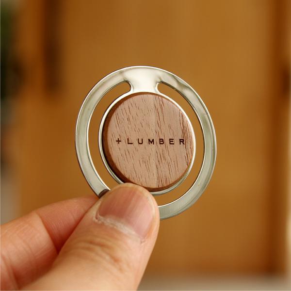 【生産終了】「CLIP ROUND(1個)」書類整理の目印になるおしゃれな木製ペーパークリップ【+LUMBER】