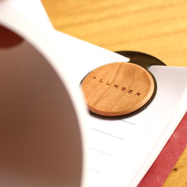 ■「CLIP ROUND(1個)」書類整理の目印になるおしゃれな木製ペーパークリップ【+LUMBER】