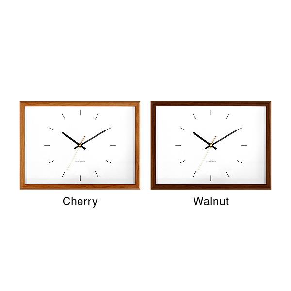 【Bar】「Frame Clock Bar(バー)」天然木の風合いを楽しめるおしゃれでシンプルデザインの壁掛け・置時計/北欧風