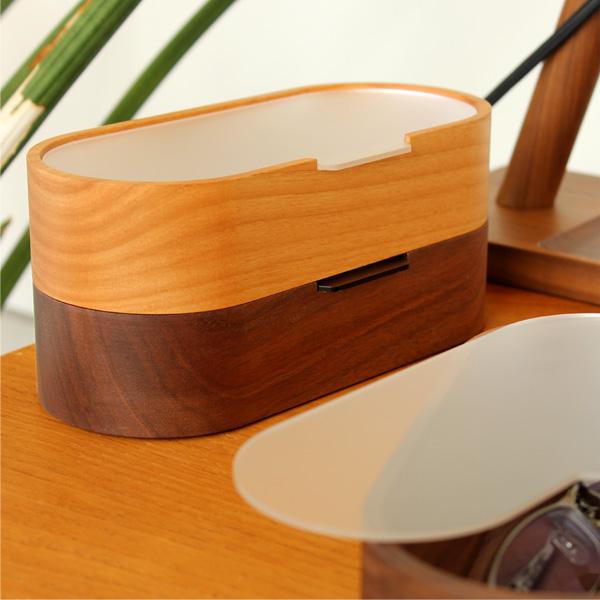 【生産終了】「GlassesCase」埃からレンズを守る木製メガネ・サングラスケース/北欧風デザイン/Hacoaブランド/レディースにもオススメ