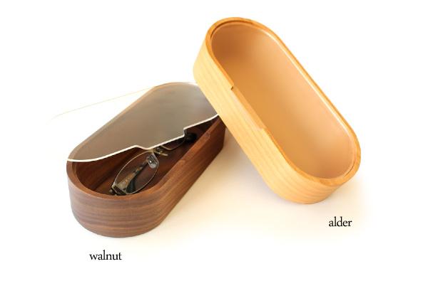「GlassesCase」埃からレンズを守る木製メガネ・サングラスケース/北欧風デザイン/Hacoaブランド/レディースにもオススメ