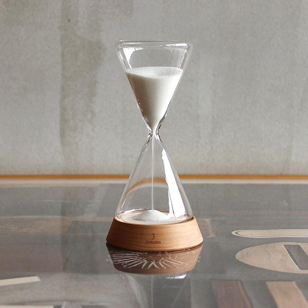 【3分用】「Sand Timer 3minutes」贅沢な時間に癒されるおしゃれな木製砂時計