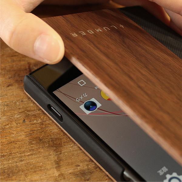 ■【XZ Premium】「Xperia XZ Premium FLIPCASE」木目の美しさを活かした手帳型スマートフォンケース/SO-04J/XZプレミアム
