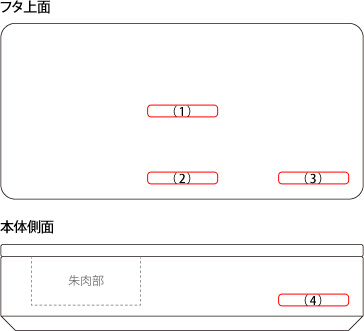 【M】「Stamp Case Mサイズ(実印・認印)」木と牛革の捺印マット付き印鑑ケース/北欧風デザイン