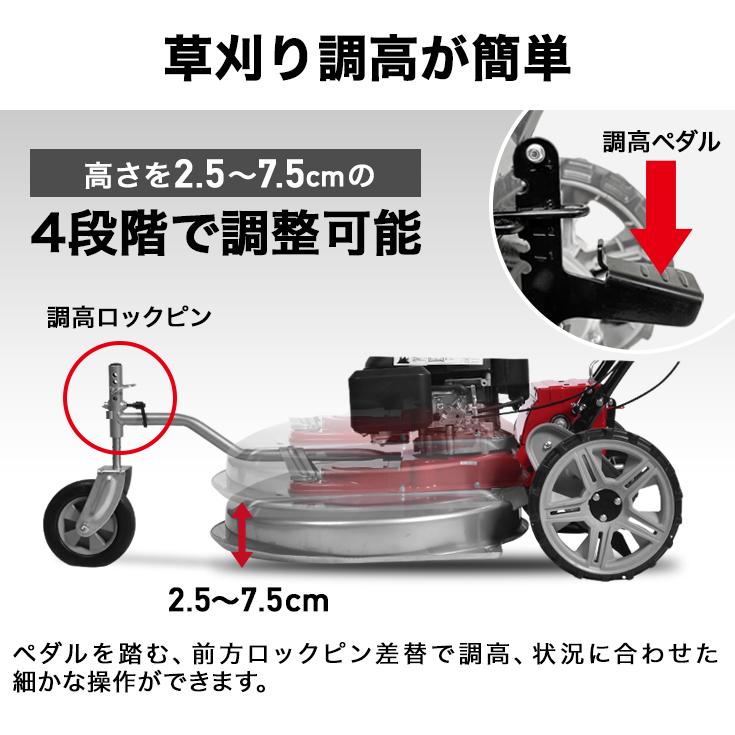 自走式 草刈り機 歩行型 4サイクル 6馬力 横排出 刈高4段調整 刈り幅61cm/HG-CK165B【西濃】