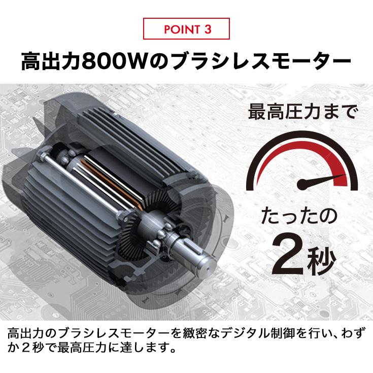 静音 ストレスフリー コンプレッサー 100V タンクレス ブラシレス オイルレス 最大圧力0.9MPa HG-DC880N1【1年保証】 【区分:カンガルーミニ】