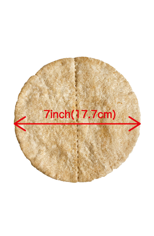 WHOLE WHEAT PITA BREAD 7inch