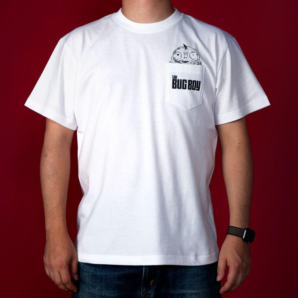怪奇サミット/THE BUG BOY ポケットTシャツ(毒虫小僧)白
