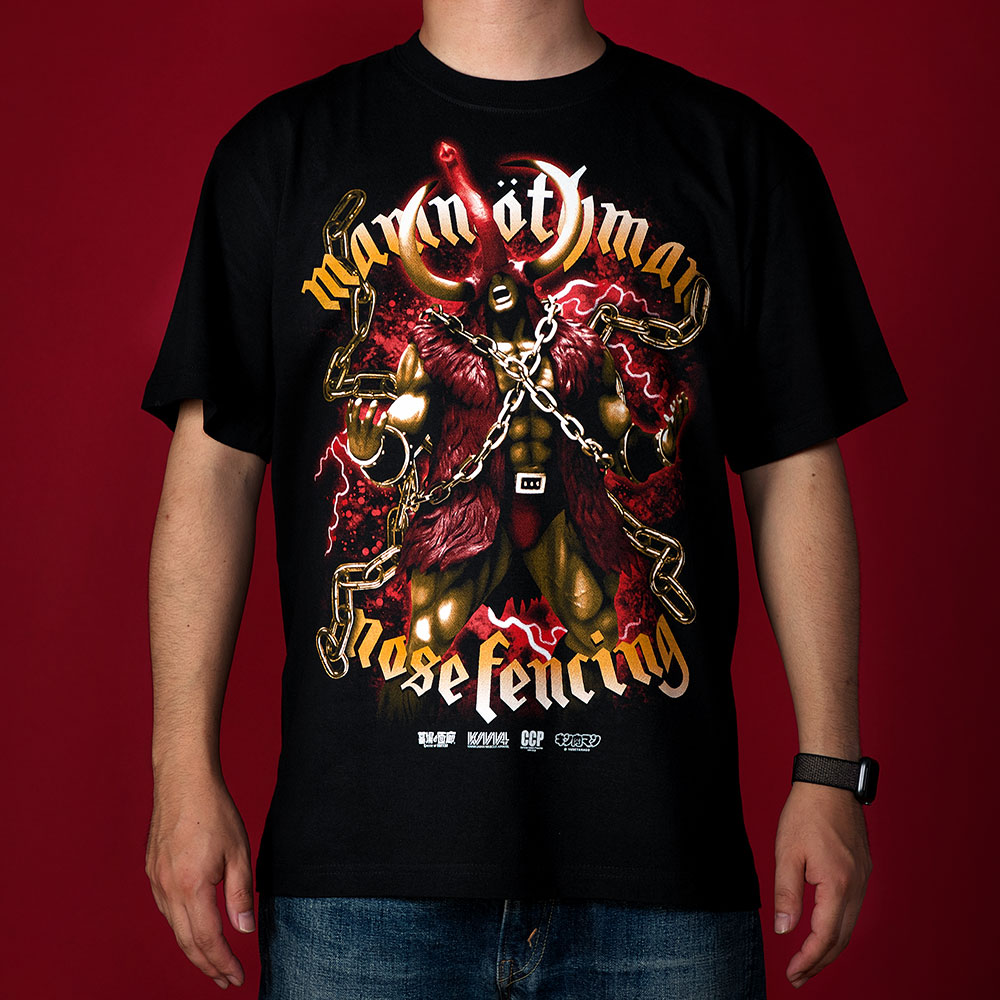 キン肉マン/Tシャツ(マンモスマン メタルシャツシリーズ)/Black