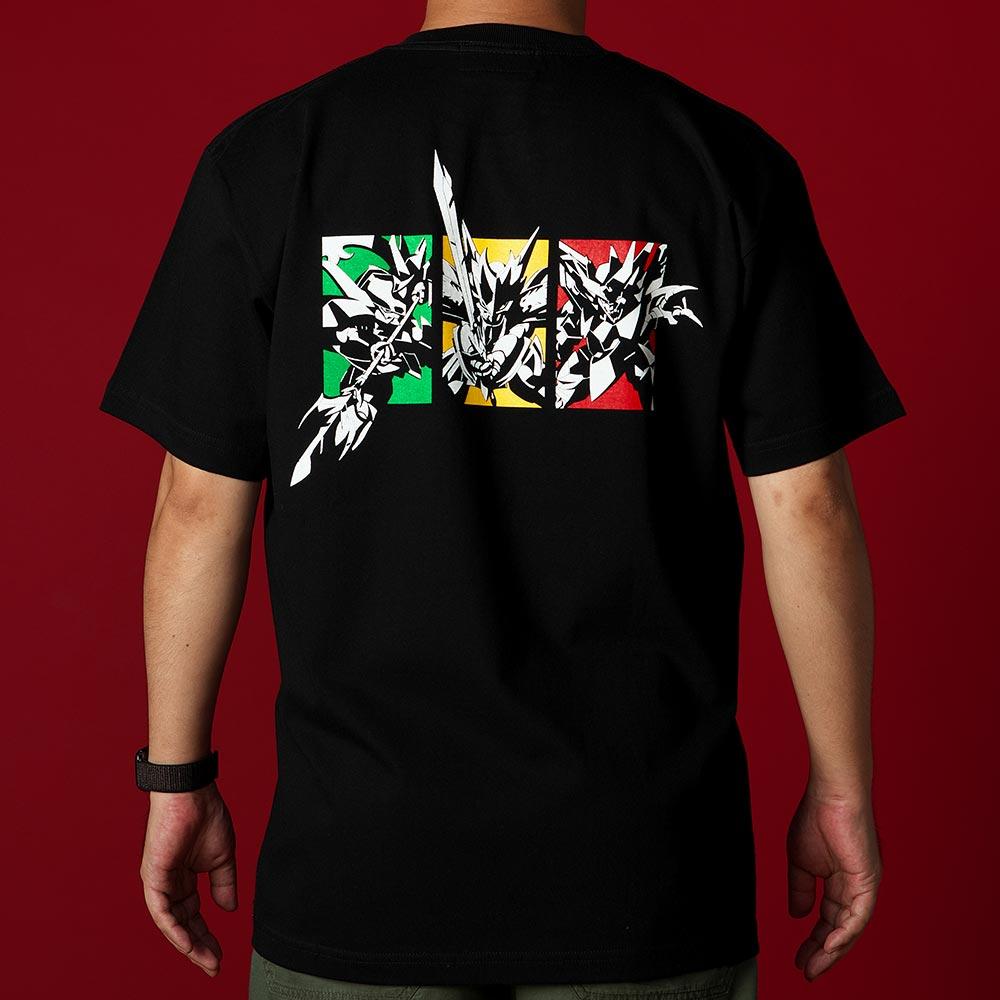 魔神英雄伝ワタル/魔神Tシャツ(龍星丸 新星邪虎丸 夏鬼丸 )ブラック