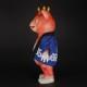 【墓場の画廊限定】【ソフビ】【ブルマァク】快獣ブースカ/お祭りブースカ(青ハッピ/オレンジ蓄光)/BULLMARK
