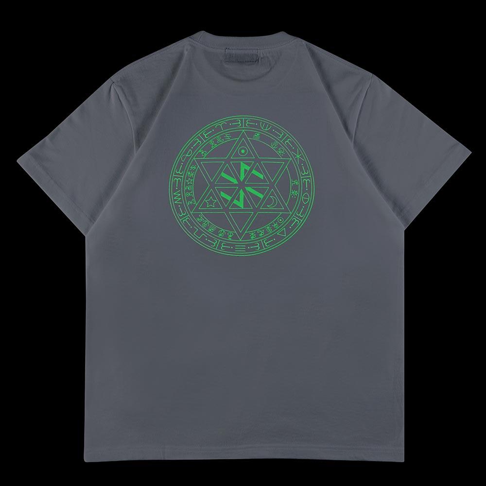 魔動王グランゾート/魔法陣Tシャツ(背面魔法陣蓄光)ホワイト