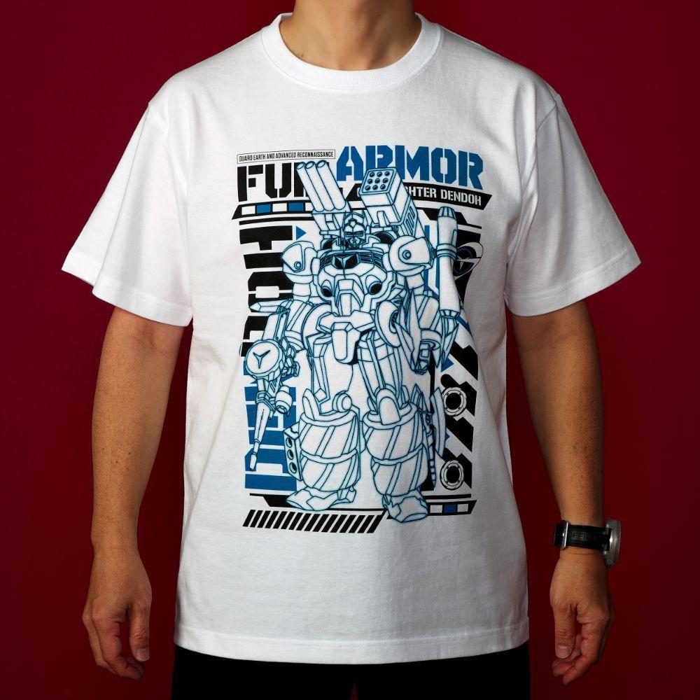 GEAR戦士電童/フルアーマー電童Tシャツ(電童)/ホワイト