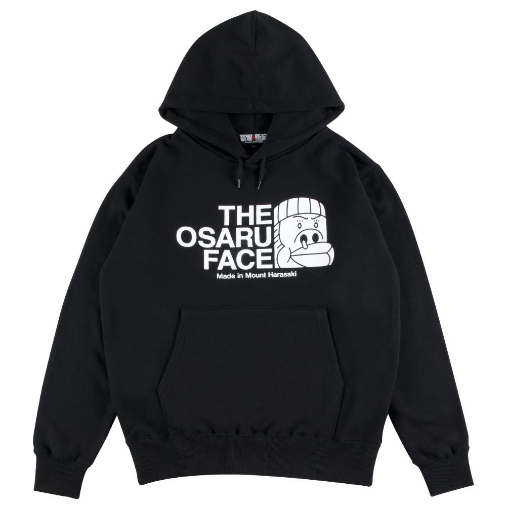モンモンモン/THE OSARU FACE プルオーバーパーカー(モンモン)/ブラック