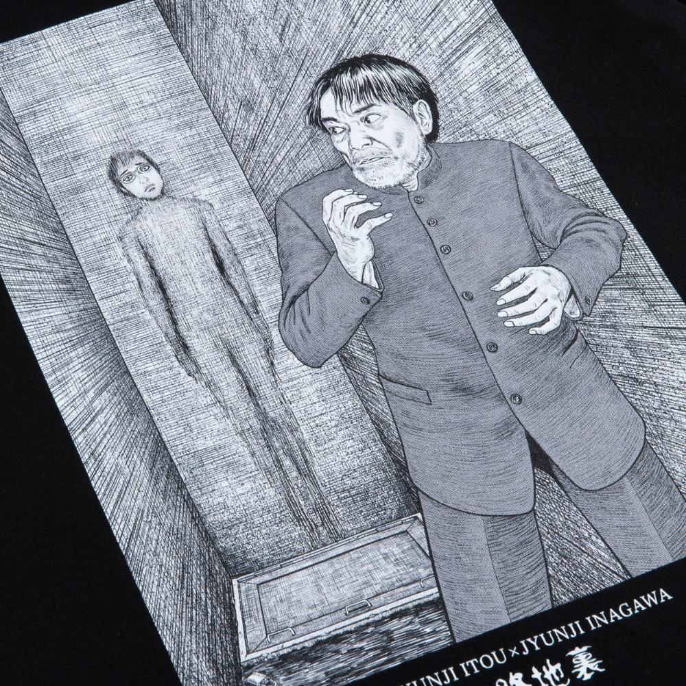 伊藤潤二×稲川淳二(恐怖の朗読会)/路地裏Tシャツ(書き下ろしイラスト)