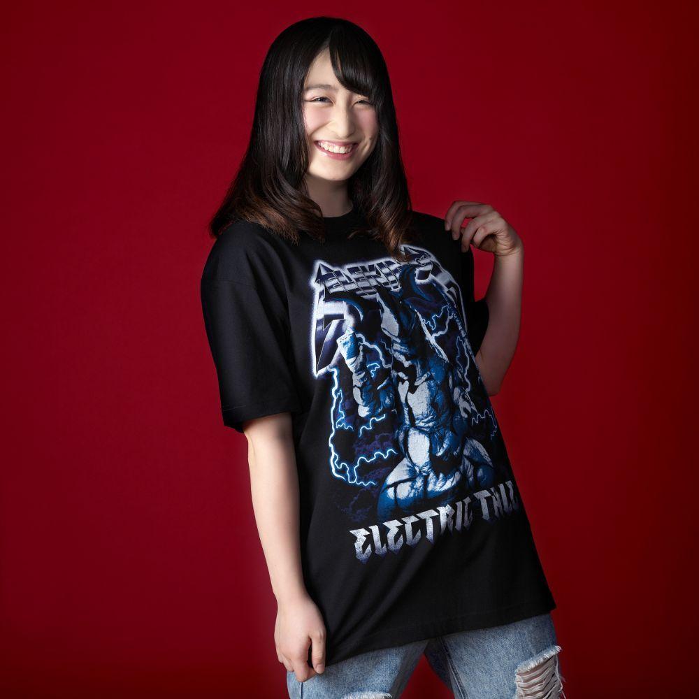 【墓場のメタルシャツシリーズ】ウルトラマンマックス/Tシャツ (エレキング)/ブラック