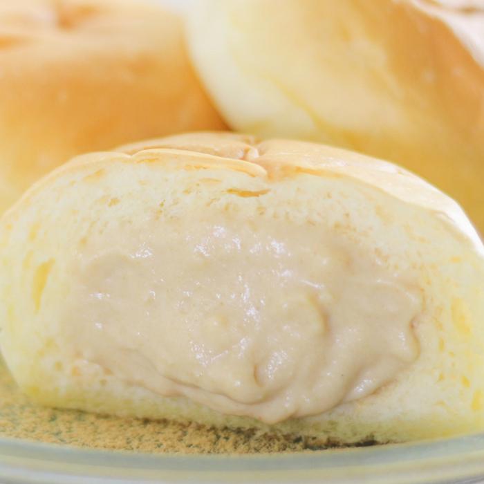 【送料無料】プレミアムフローズンくりーむパンカスタード・発酵きなこ