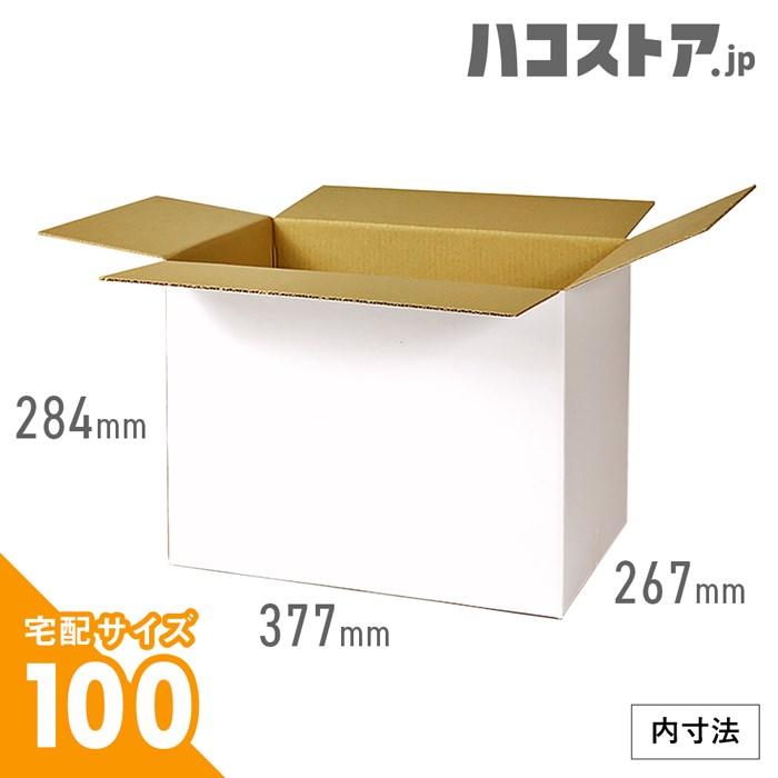 【宅配100サイズ 白色】ダンボール箱