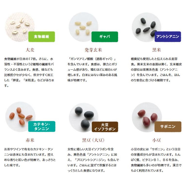 【定期購入】 おいしさ味わう十六穀ごはん 180g(30g×6)×6袋